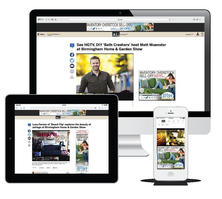 Digital Display. Case Study  La Z Boy Furniture   Alabama Media Group