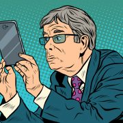 boss on smartphone
